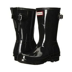 New HUNTER Short Gloss Black Boots